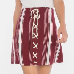 Lovers and friends tie detail skirt